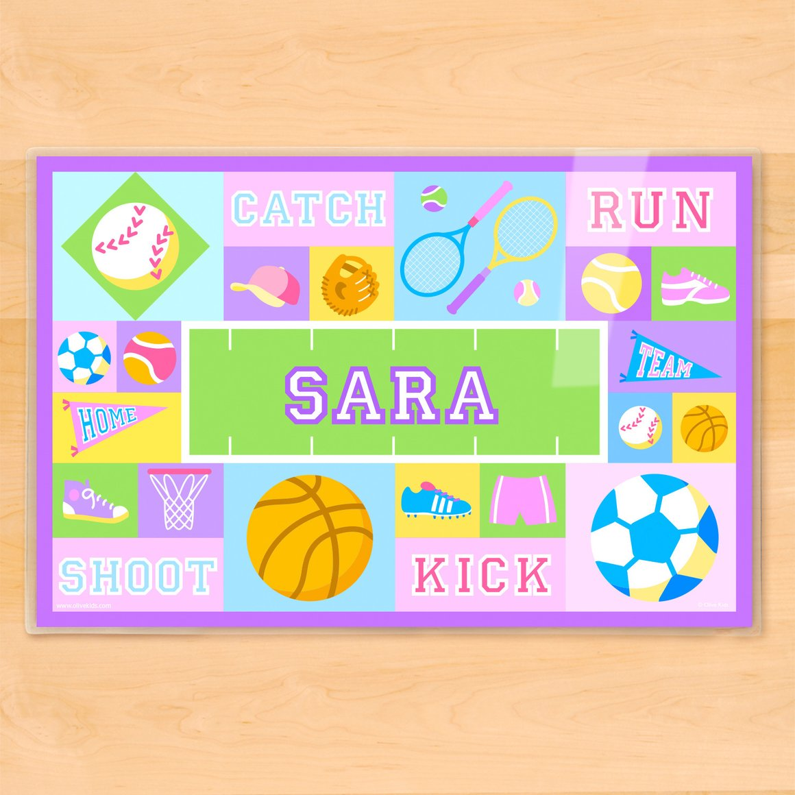 Game On Girls Personalized Kids Placemat