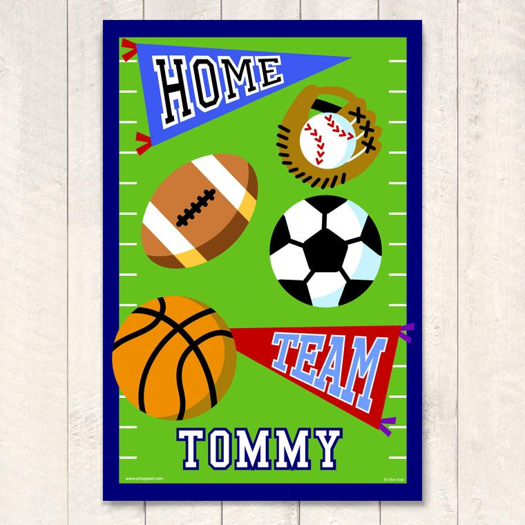 Game On Personalized Art Print
