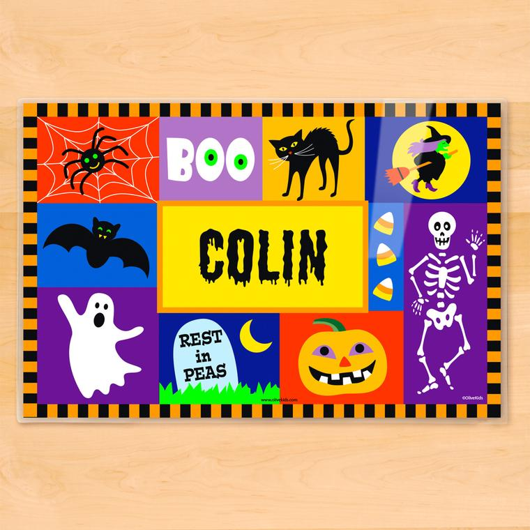 Halloween Blocks Personalized Kids Placemat