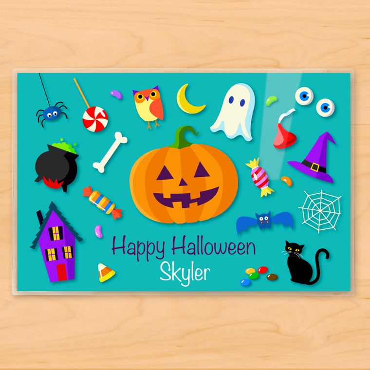 Halloween Icons Personalized Kids Placemat
