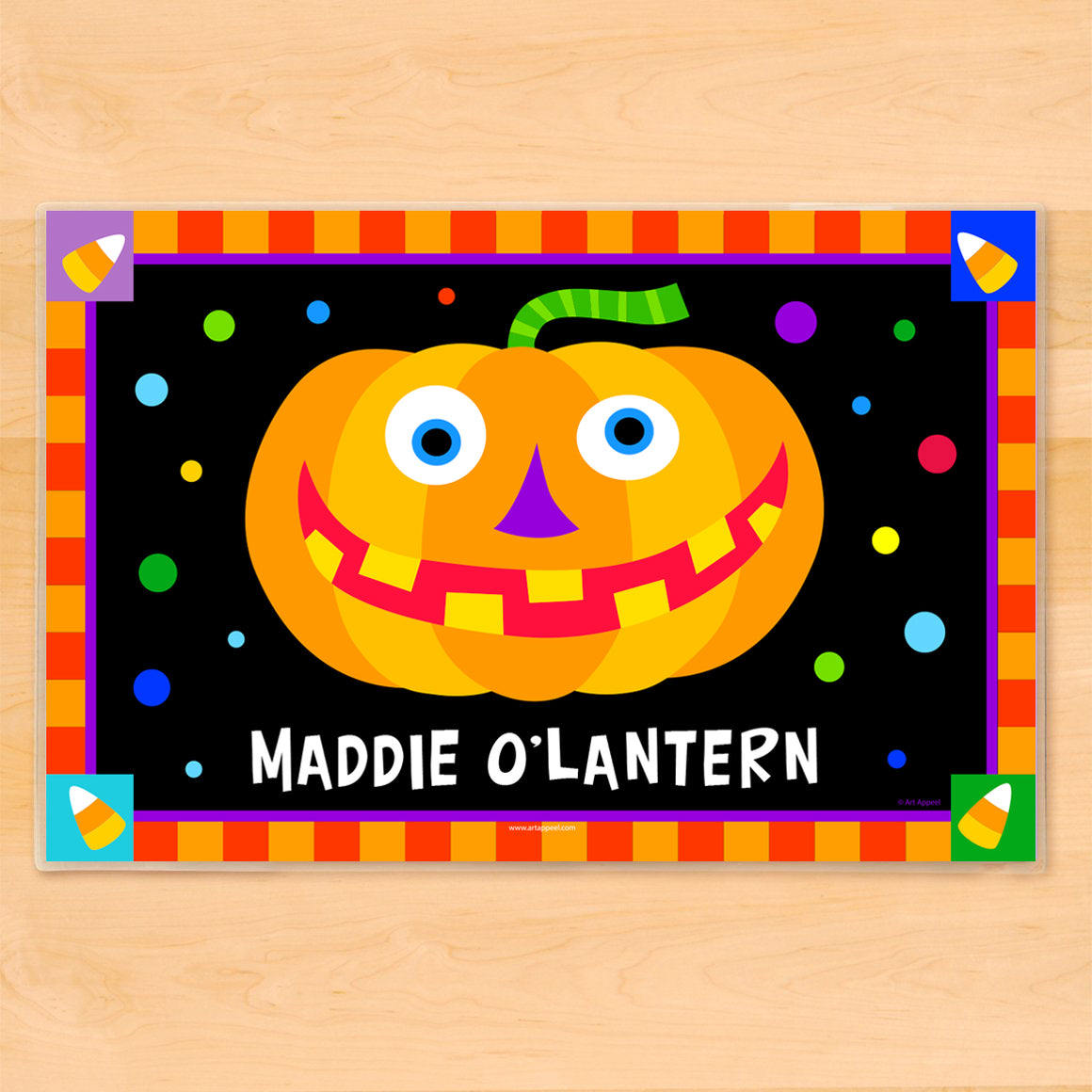 Halloween Jack O' Lantern Personalized Kids Placemat