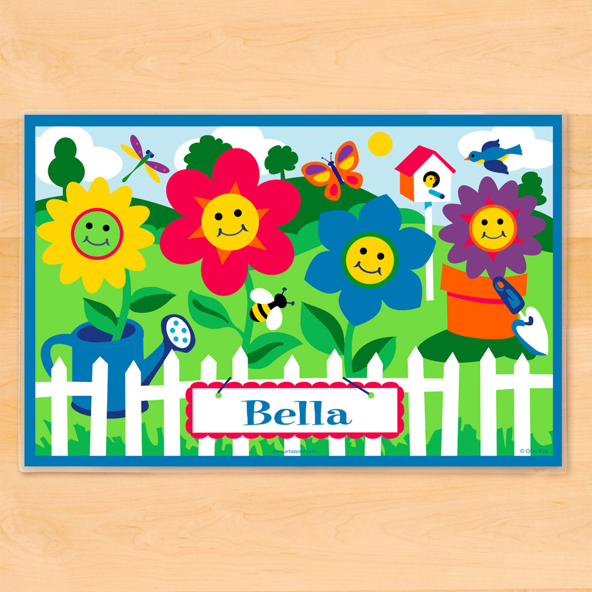 Happy Flowers Personalized Kids Placemat