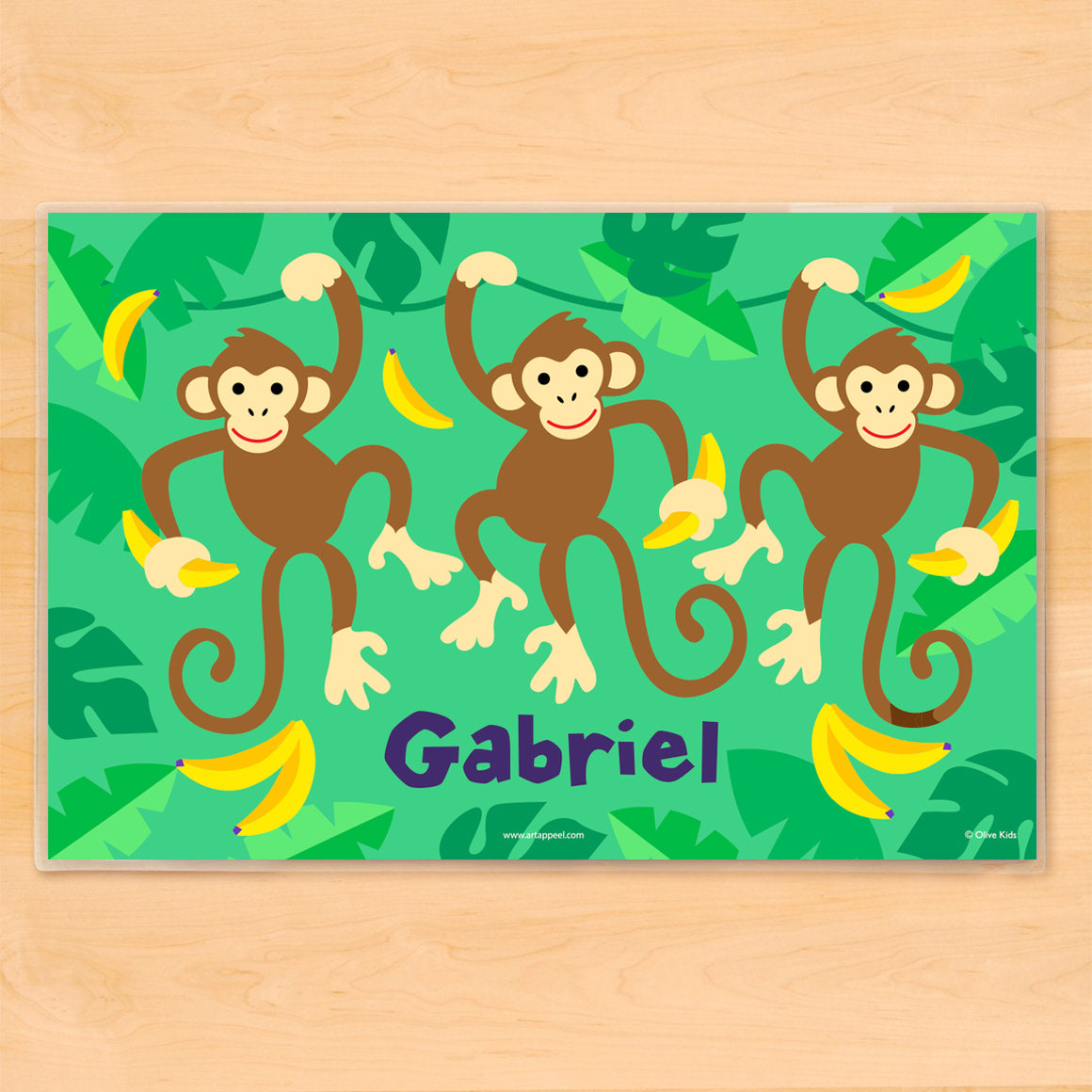 Monkeys Personalized Kids Placemat