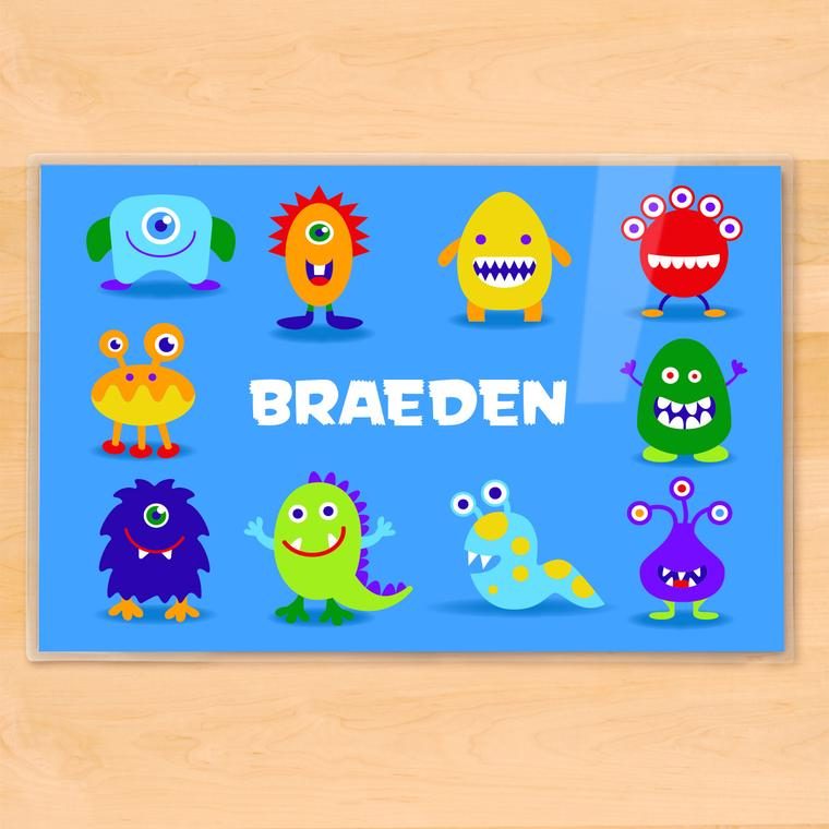 Monsters Personalized Kids Placemat