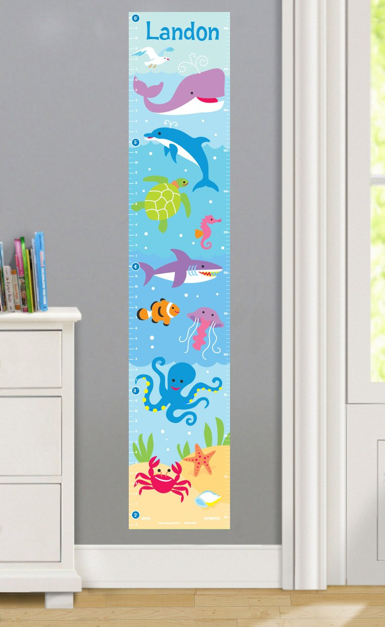 Ocean Personalized Decals Kids Growth Chart