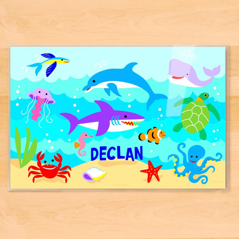 Ocean Personalized Kids Placemat