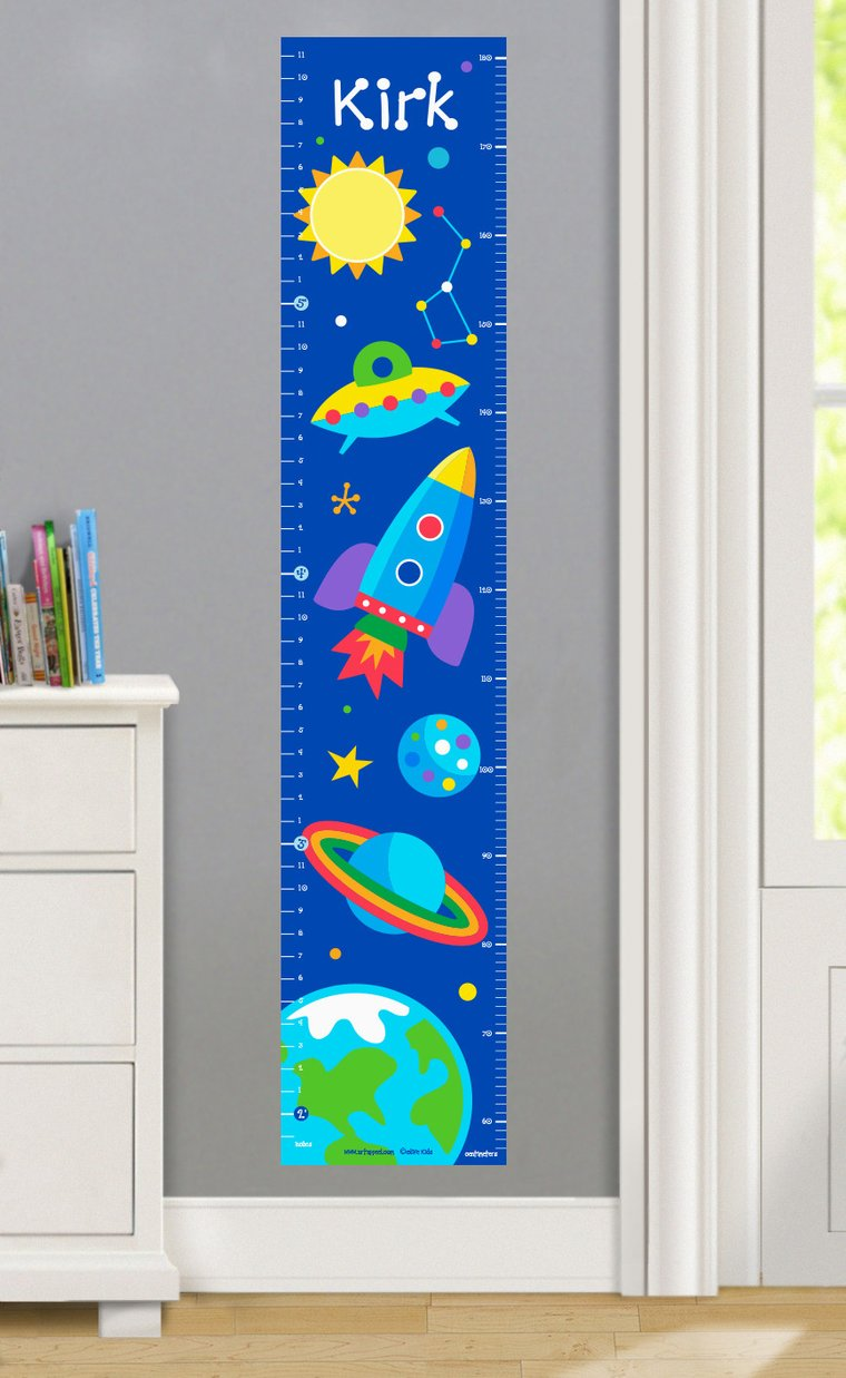 Out Of This World Personalized Decals Kids Growth Chart
