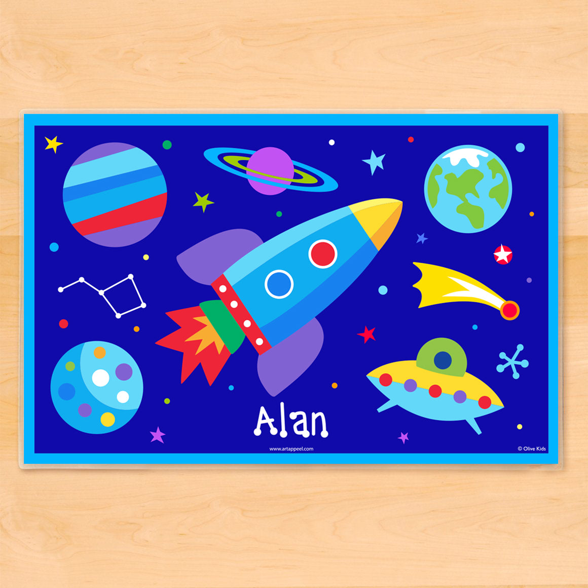 Outer Space Personalized Kids Placemat