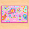 Pink Paisley Dreams Personalized Kids Placemat