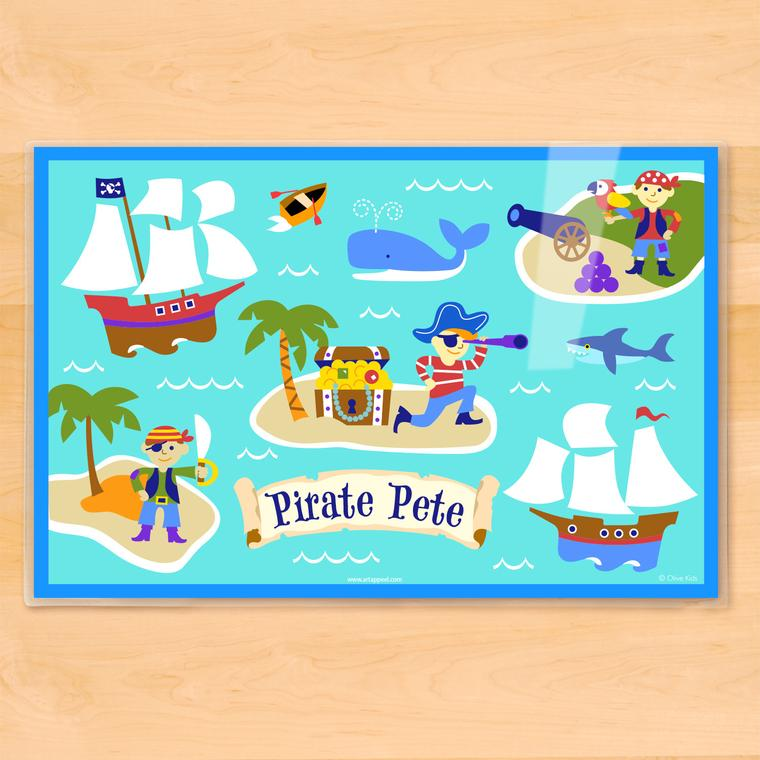 Pirates Personalized Kids Placemat