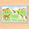 Patchwork Ponies Personalized Placemat