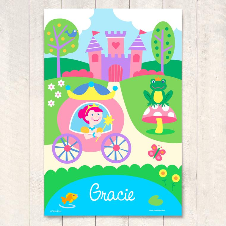 Princess Personalized Art Print