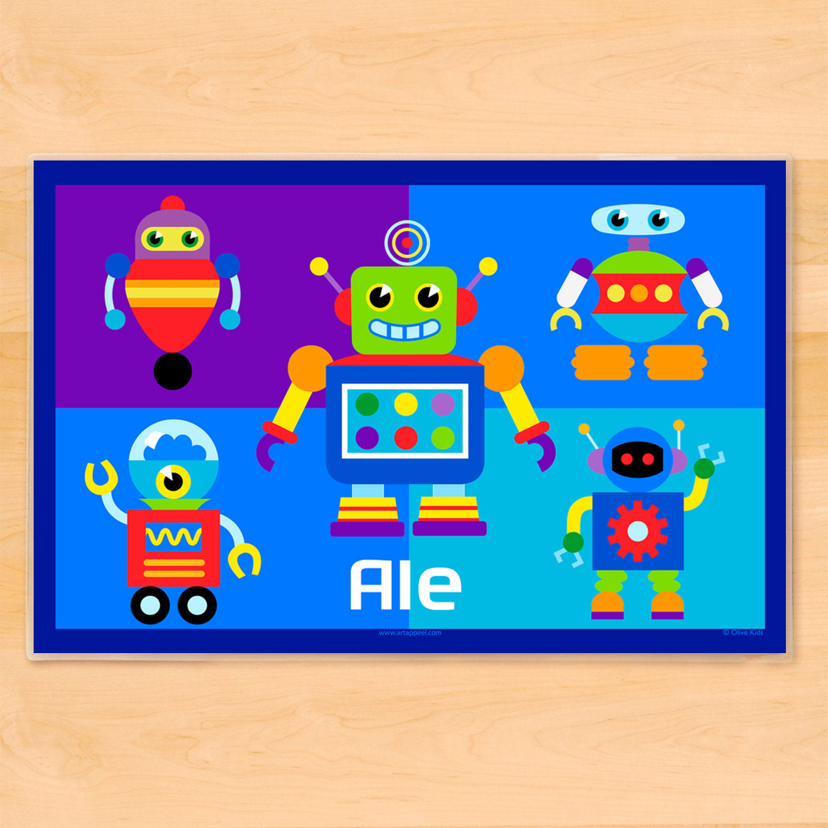 Robots Personalized Kids Placemat