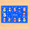 Snowmen Personalized Kids Placemat