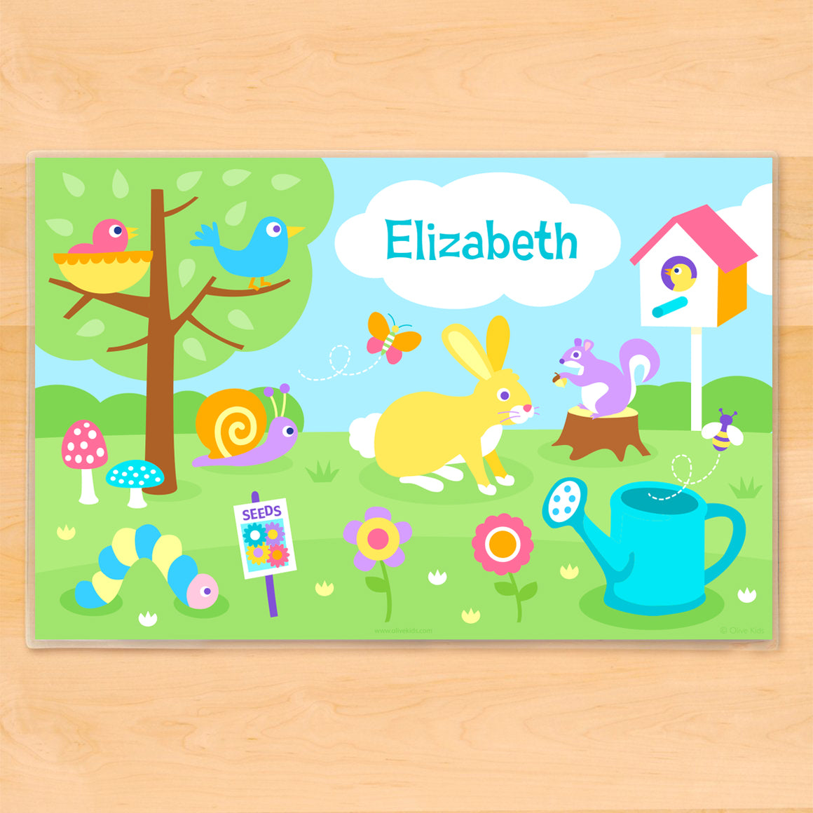 Spring Personalized Kids Placemat