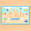 Summer Sandcastle Boys Personalized Kids Placemat