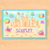Summer Sandcastle Girls Personalized Kids Placemat