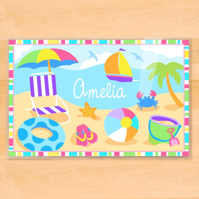 Summertime Girls Personalized Kids Placemat