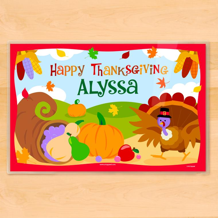 Thanksgiving Personalized Kids Placemat