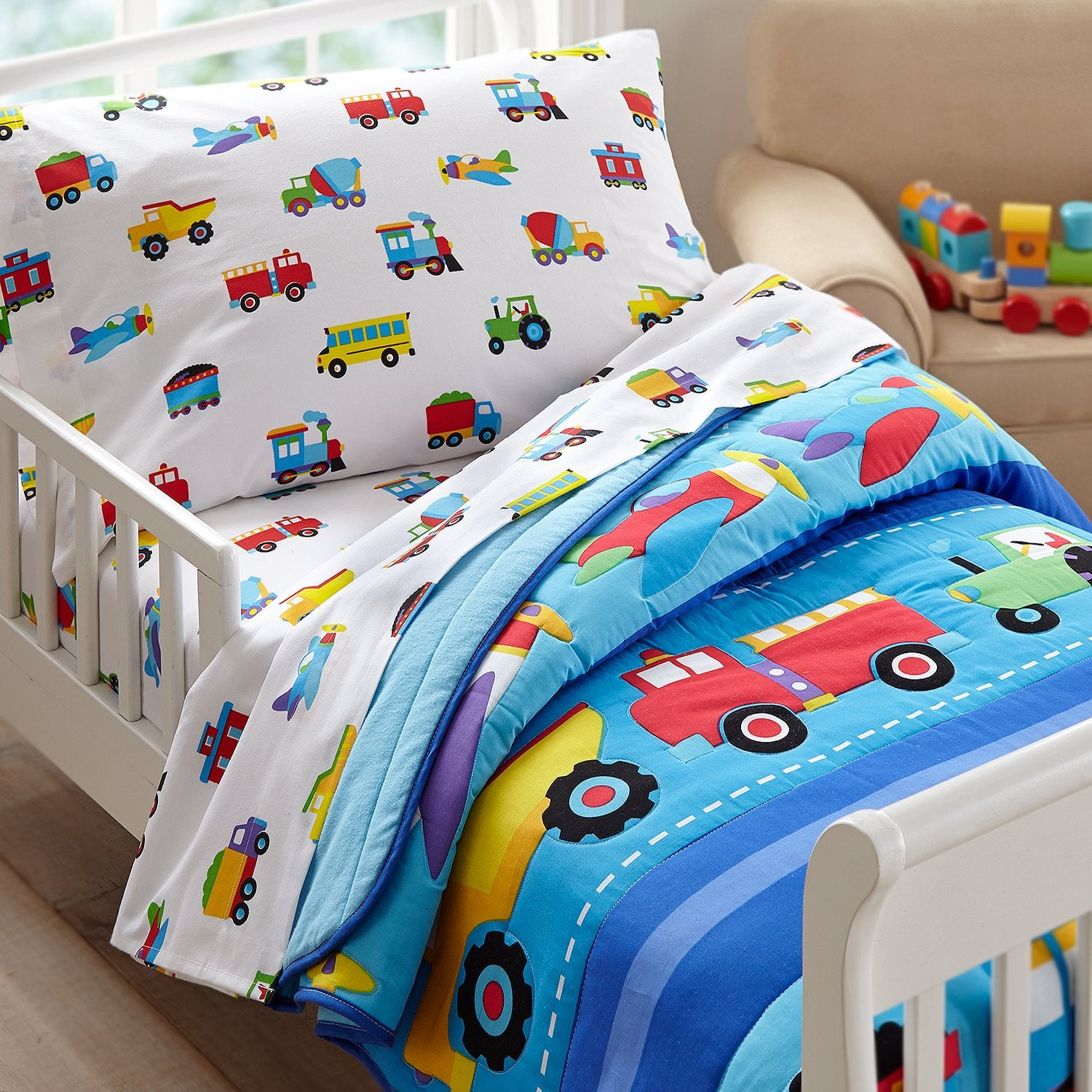 Trains, Planes and Trucks Toddler Set