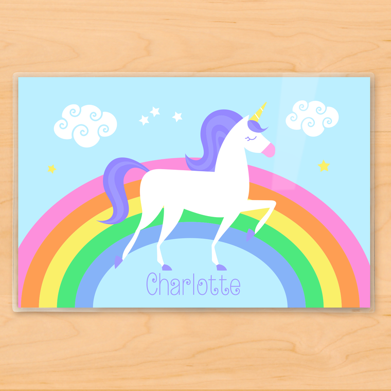 Unicorn Personalized Kids Placemat