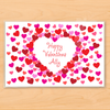 Valentine Hearts Personalized Kids Placemat