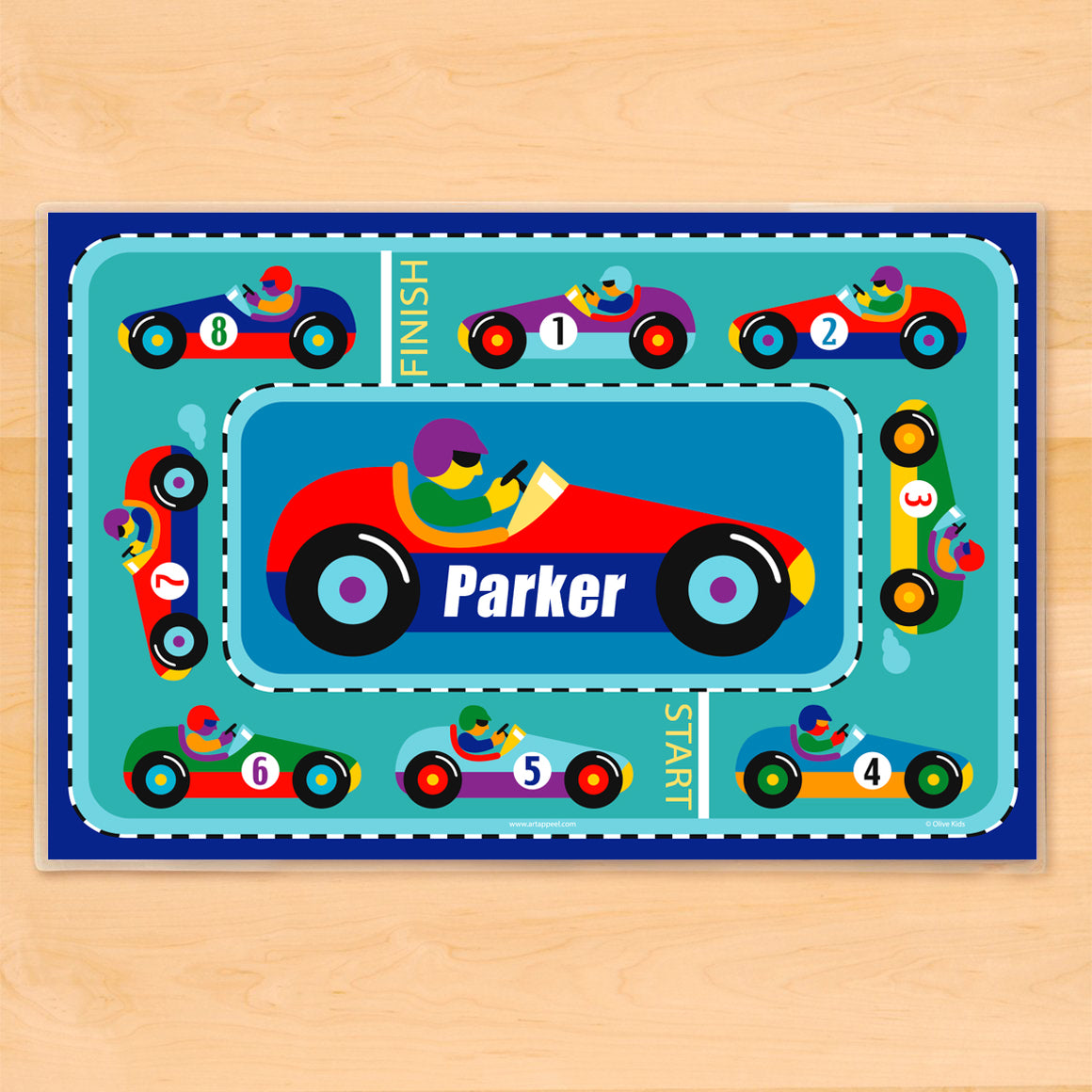 Vroom! Personalized Kids Placemat