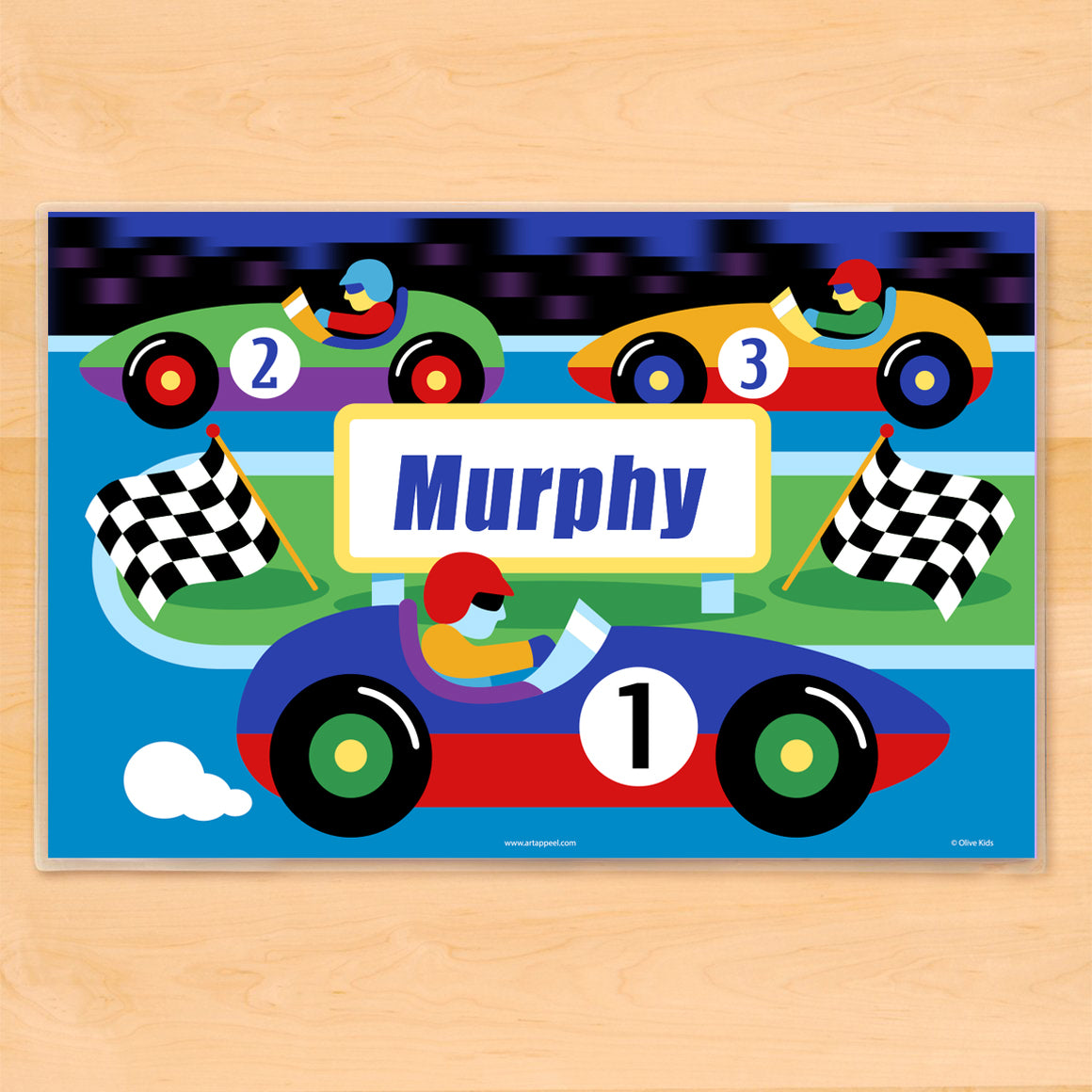 Vroom Race Track Personalized Kids Placemat