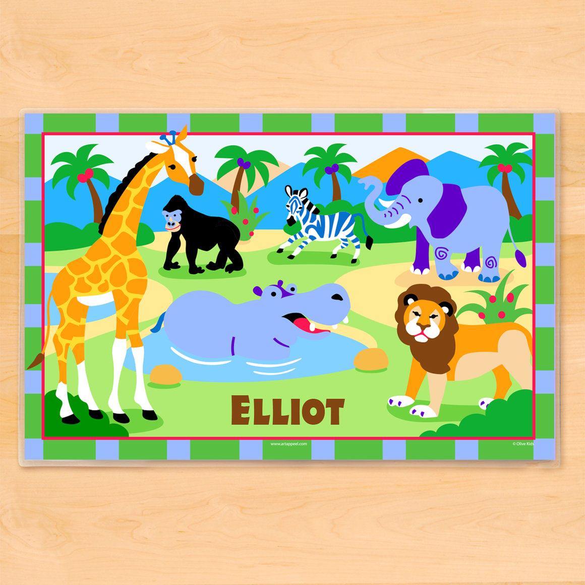Wild Animals Personalized Kids Placemat