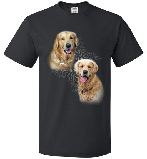 Love Golden Retriever Custom Designed Unisex T-Shirts