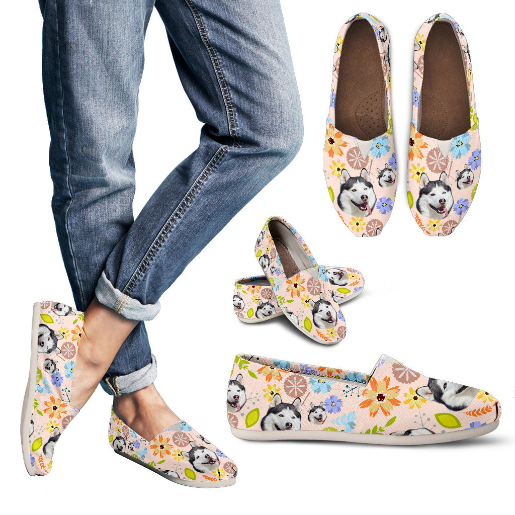 Awesome Floral Husky Casual Shoes