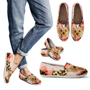 Beautiful Floral Yorkie Causal Shoes