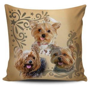 Cute Yorkie Pillow