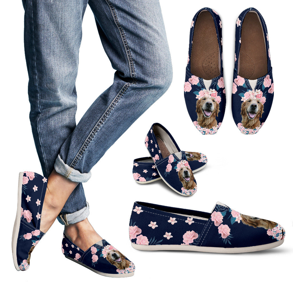 Beautiful Floral Labrador Retriever Casual Shoes