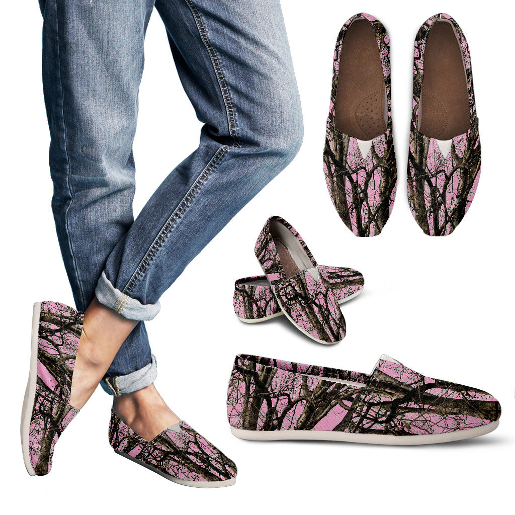 Awesome Pink Camo Casual Shoes