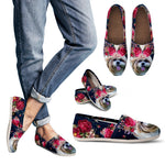 Beautiful Floral Shih Tzu Causal Shoes