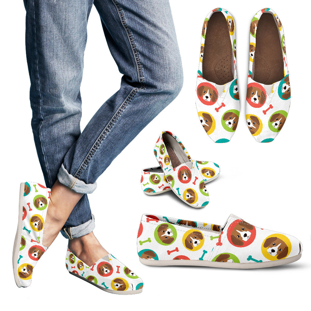 Beautiful Cute Beagle Pattern Casual Shoes