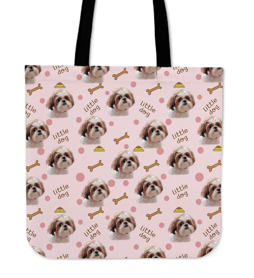 Awesome Shih Tzu Pattern Linen Tote Bag