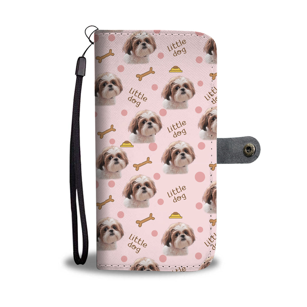 Beautiful Shih Tzu Pattern Wallet Phone Case