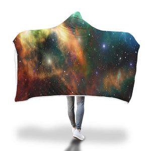 Galaxy Premium Sherpa Hooded Blanket