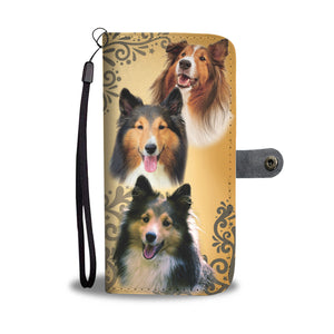 Cute Shelties (Shetland Sheepdog) Wallet Phone Case