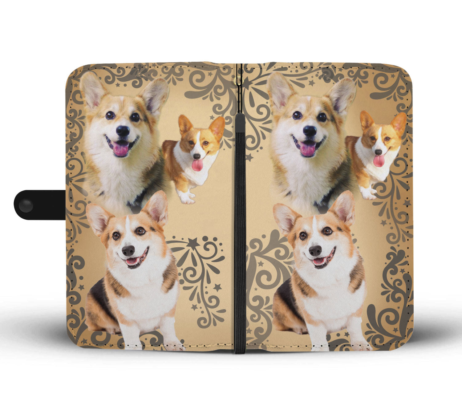 Cute Corgi Wallet Phone Case