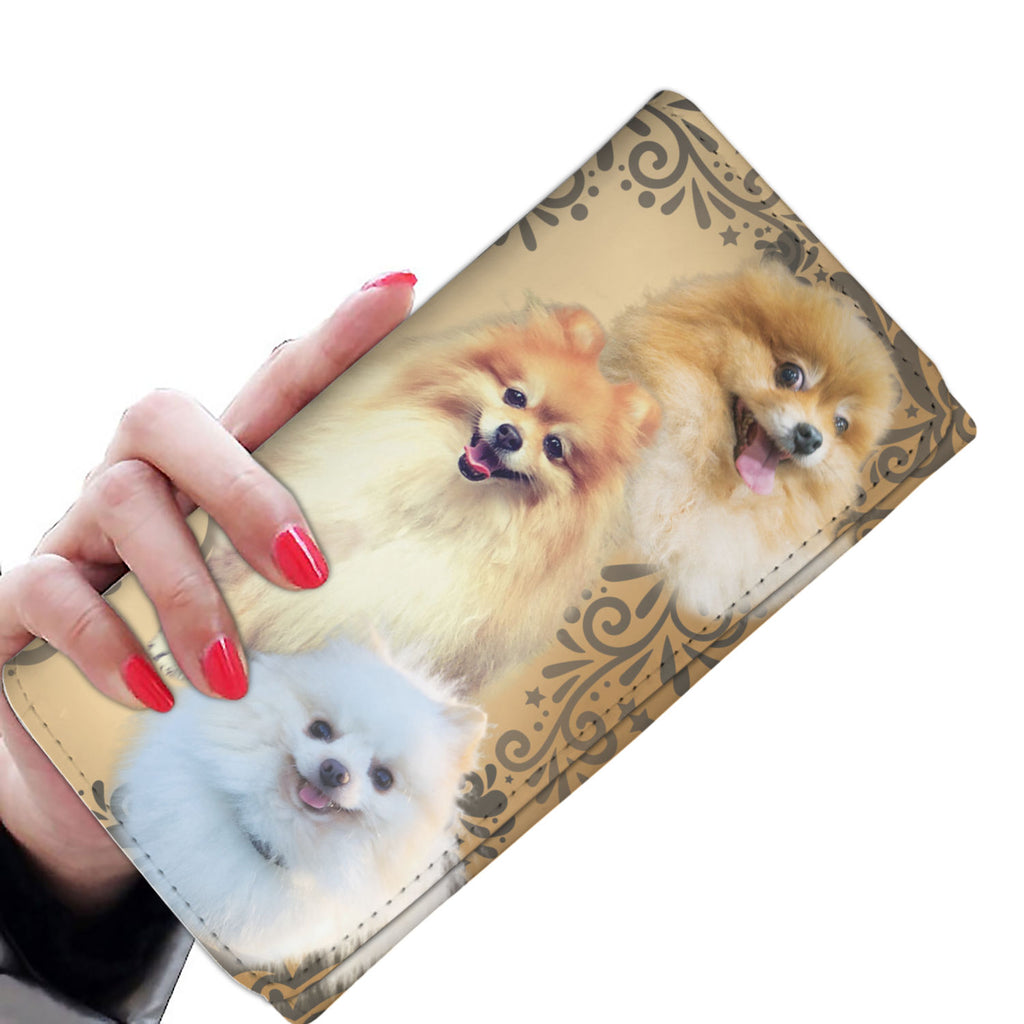 Cute Pomeranian Dog Women's Wallet