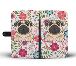 Lovely Floral Pug Phone Case