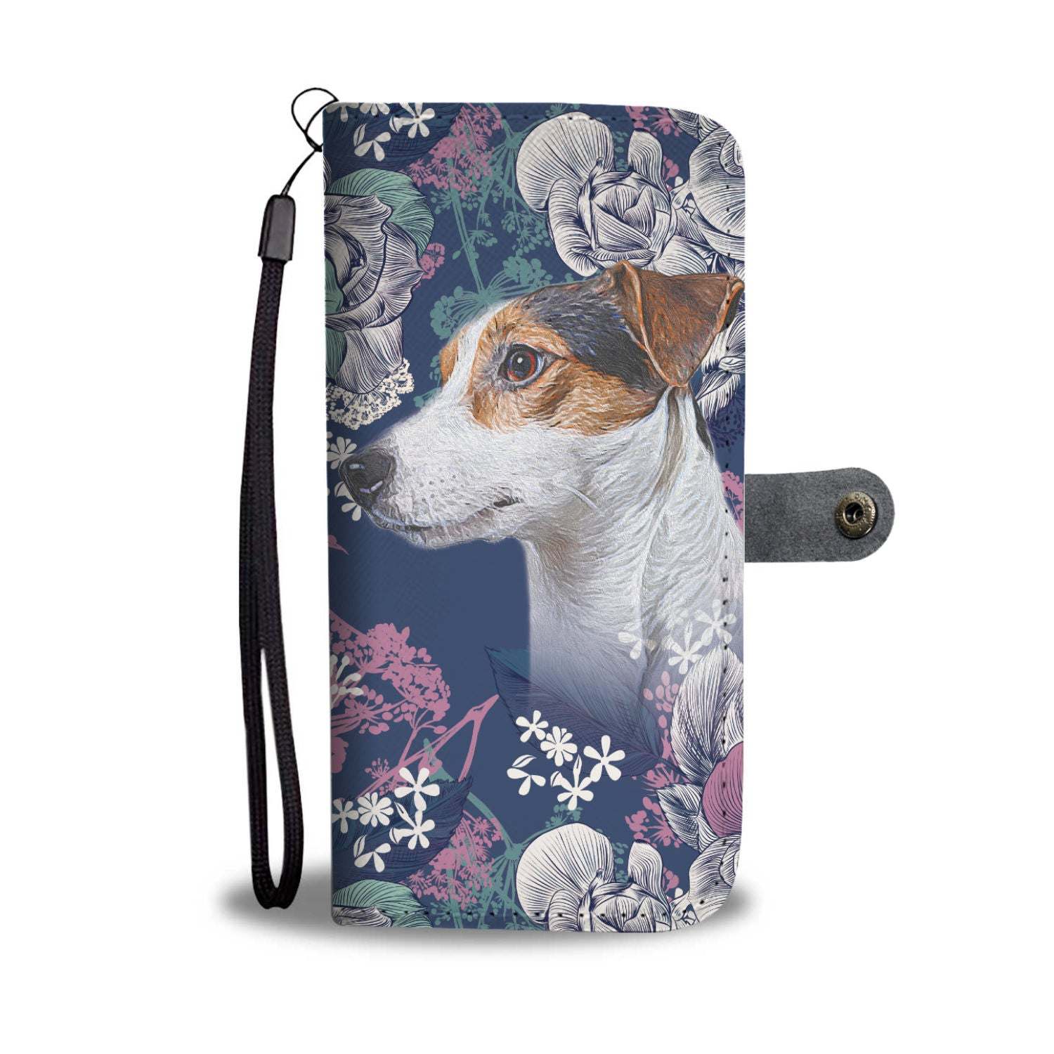 Floral Jack Russell Wallet Phone Case