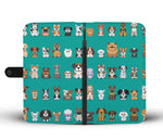 Cute Dog Lovers Pattern Wallet Case