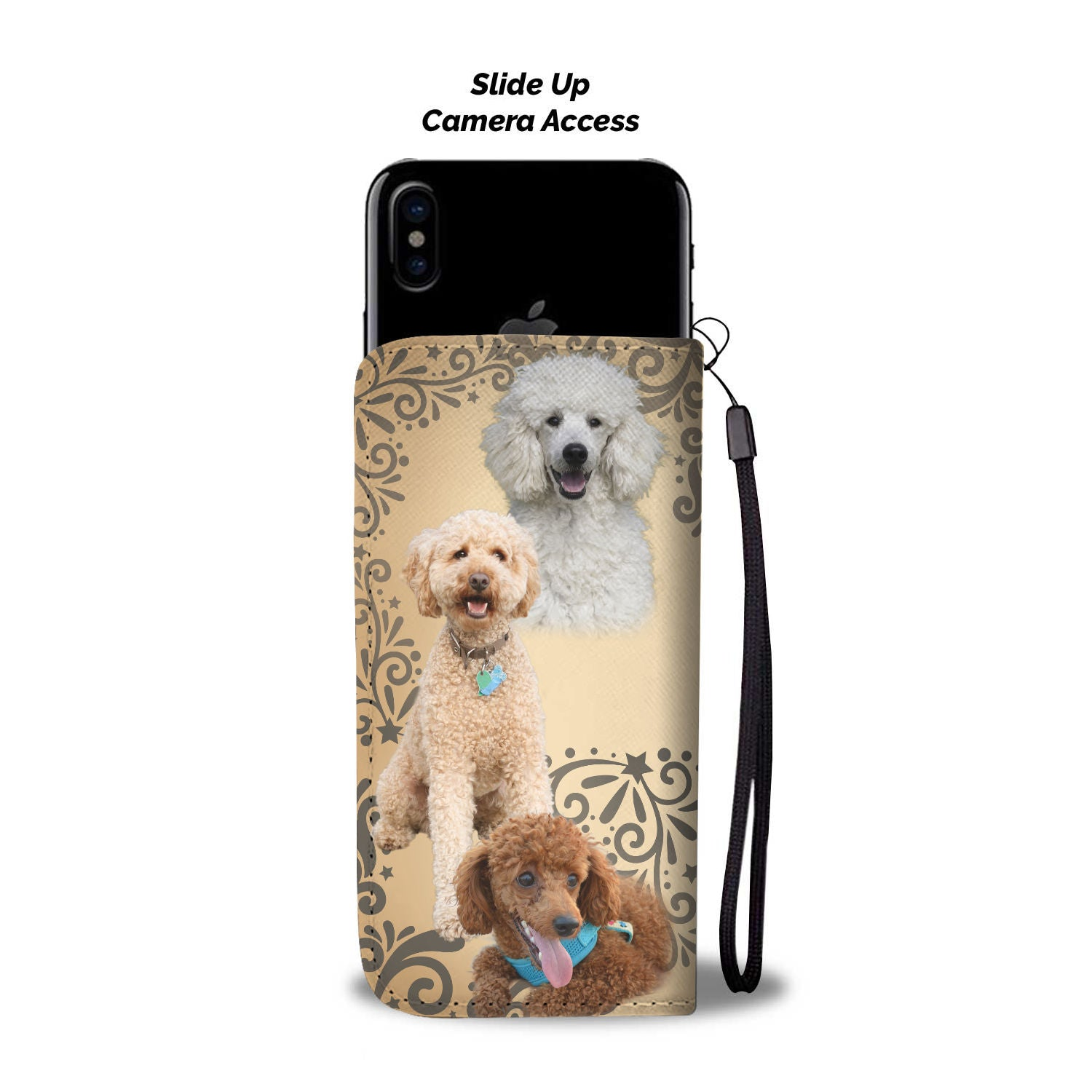 Poodle Wallet Phone Case