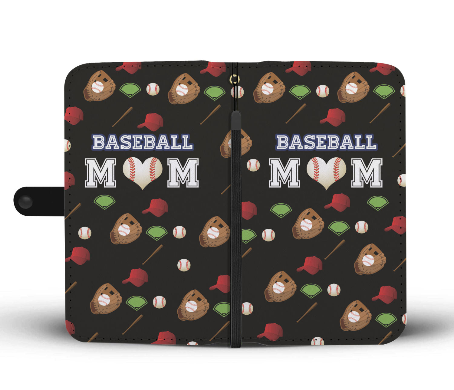 Beautiful Baseball Mom Wallet Case