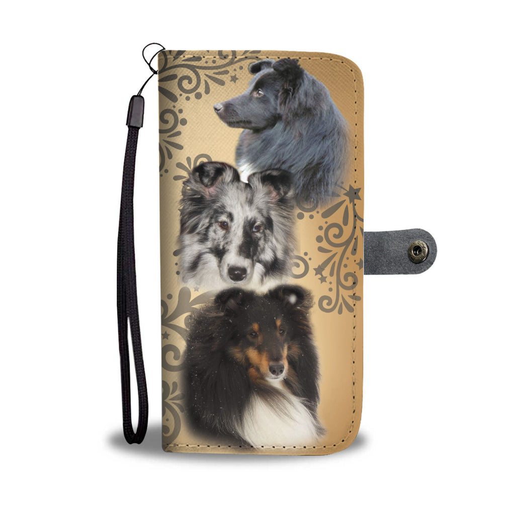 Custom Designed Shelties Wallet Phone Case