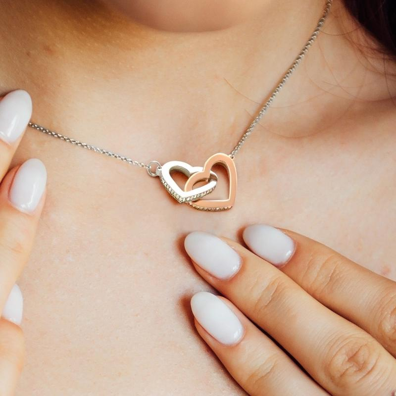 "TO MY BETTER HALF - ""I'M NOT PERFECT"" INTERLOCKING HEARTS NECKLACE"